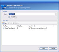 File Group and Data File Editor