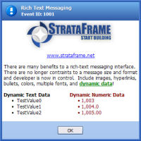 Rich Text Message Box